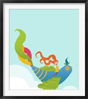 Framed Bird and Girl