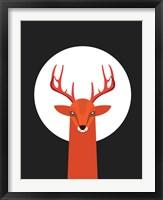 Framed Deer & Moon