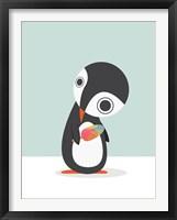 Framed Pingu Loves Ice Cream