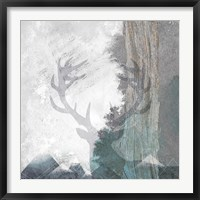 Framed Deer and Mountains 1