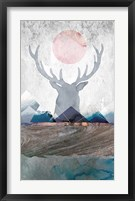 Framed Deer and Mountains 2