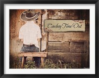 Framed Cowboy Time OUt