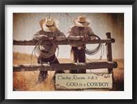 Framed God is a Cowboy