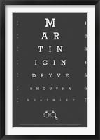 Framed Eye Chart Martini