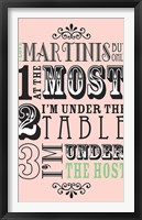 Framed I Love Martinis