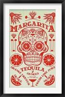 Framed Margarita Recipe