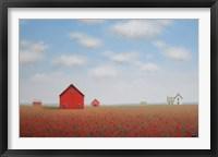 Framed Long Poppy Farm