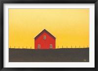 Framed My Little Red Barn