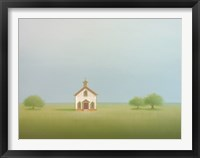 Framed Old Country Church
