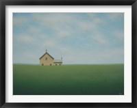 Framed Old Stone Farmhouse