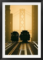 Framed Cable Cars, San Francisco