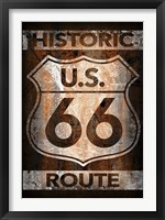 Framed Historic Route 66