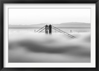 Framed Across the Bay BW