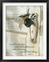 Framed He Will Cover You
