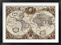 Framed Nova Totius Terrarum Orbis Tabula 1
