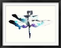 Framed Turquoise & Violet Dragonfly