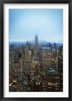 Framed New York View by Night