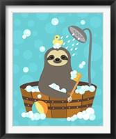 Framed Bathing Sloth