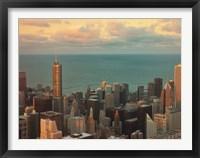 Framed Sunset in Chicago