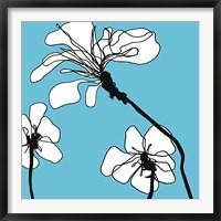 Framed Flowers in Blue 1