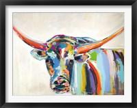 Framed Long Horn