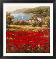 Framed Poppy Harbor