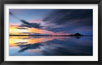 Framed Lake Myvatn Reflections