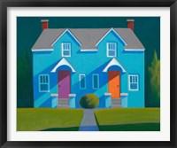 Framed Blue House