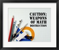 Framed Caution: Weapons of Math Destruction - Color