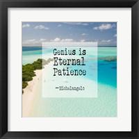 Framed Genius is Eternal Patience - Beach