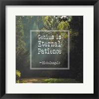 Framed Genius is Eternal Patience - Forest