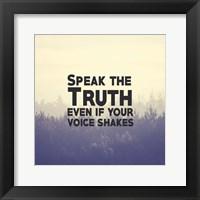 Framed Speak The Truth - Yellow