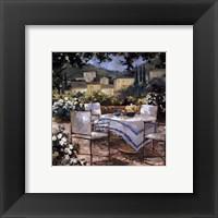 Framed Tuscany Terrace