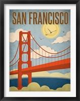 Framed San Francisco - Golden Gate Bridge
