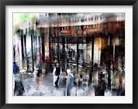 Framed Busy Sidewalk