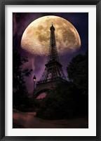Framed Moonlight in Paris