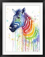 Framed Rainbow Zebra