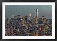Framed Downtown Skyline 12