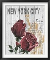 Framed New York Roses