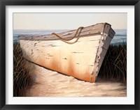 Framed White Boat