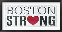 Framed Boston Strong