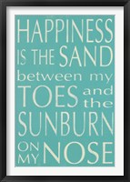 Framed Happiness Is the Sand...