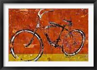 Framed Gold and Orange Bike