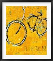 Framed Gold Bike