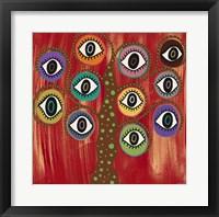 Framed Evil Eye Tree I