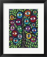 Framed Evil Eye Tree II