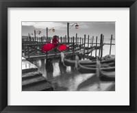 Framed Gondolas BW & Red