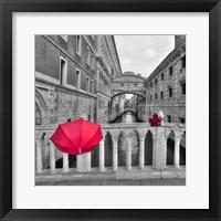 Framed Red Umbrella 1