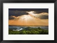 Framed Rays Over Blue Ridge