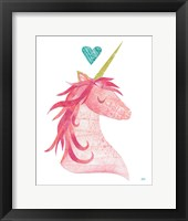 Framed Unicorn Magic I Heart